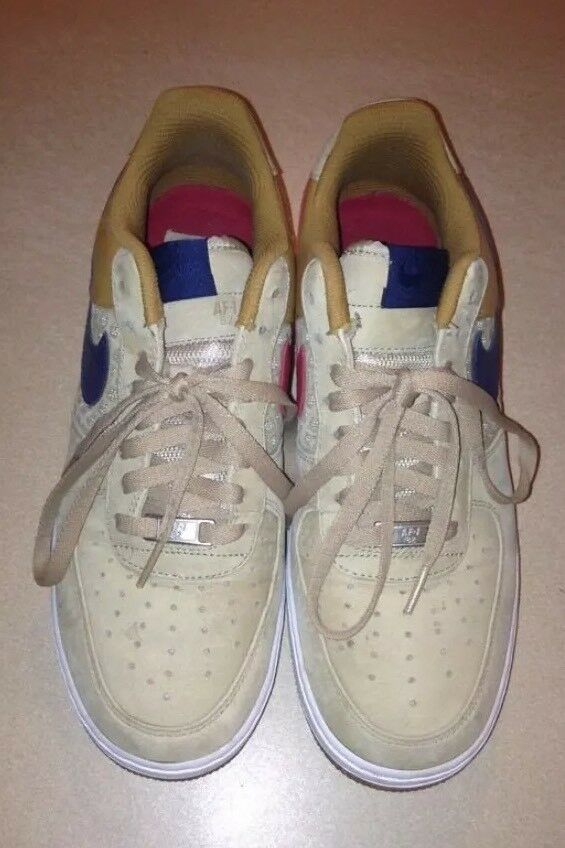 Nike Air Force 1's Boston RedSox Colors, with Khaki