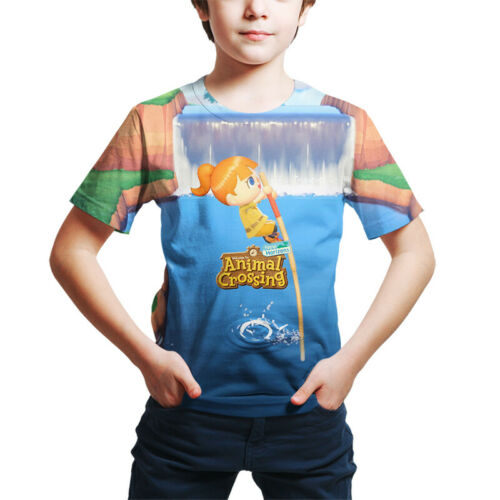 3D Animal Crossing Cartoon Animation Kids boys girls Fashion Casual T-Shirt A+