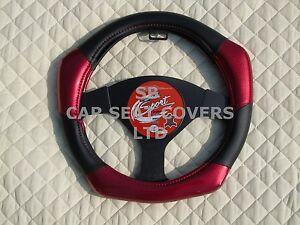 I - passend für Volvo S40, Lenkradabdeckung, Kohlefaser look R1 rot