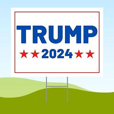 TRUMP 2024 18x24 Yard Sign ondulé en plastique Bandit Lawn ELECTION VOTE no Biden