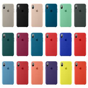 Original-Silicone-Slim-Case-For-iPhone-XR-XS-Max-7-8-Genuine-OEM-Cover