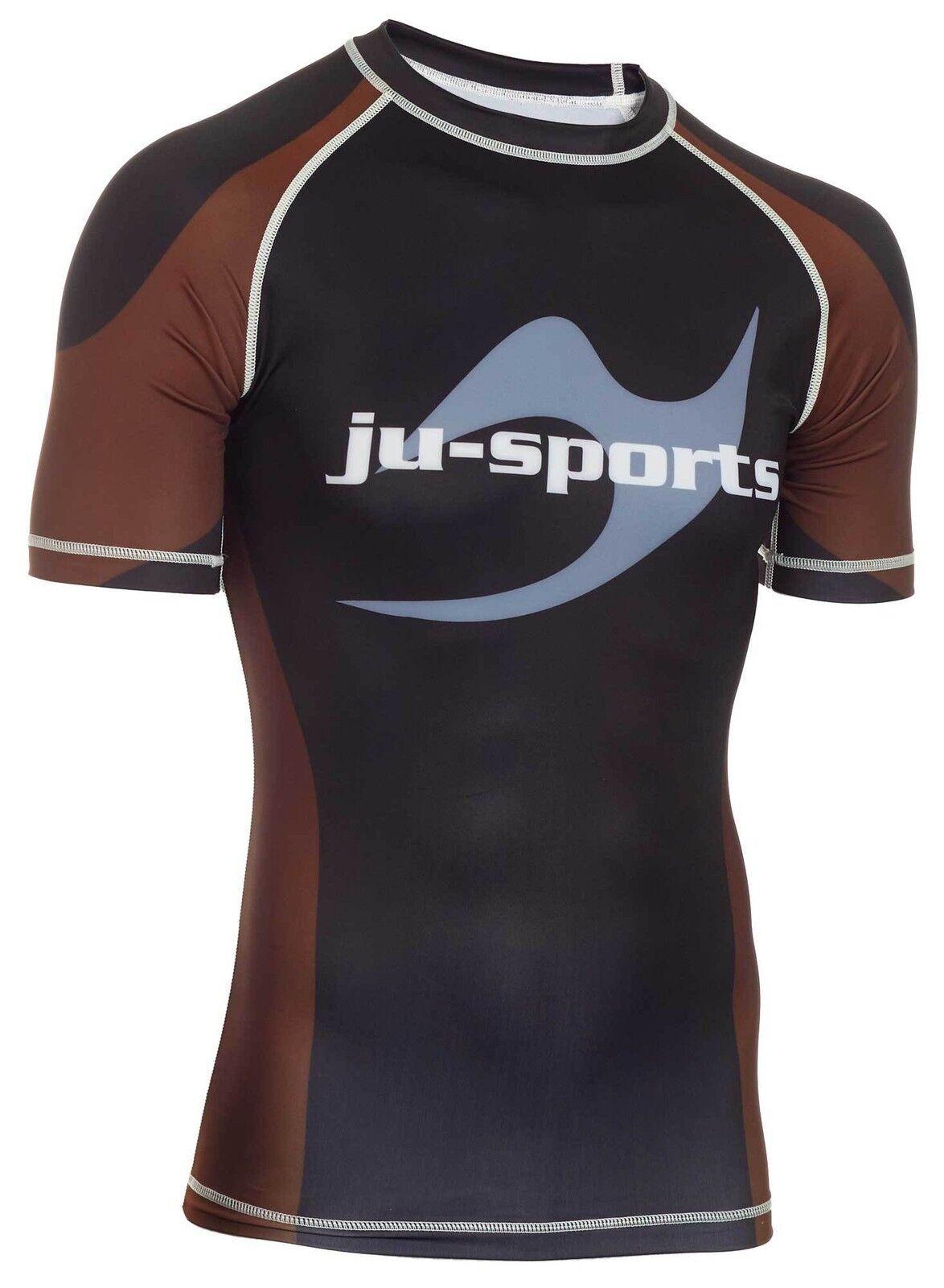 Ju-Sports Rank Rashguard Pro kurzarm braun braun braun für BJJ braun Belts (Braungurte)  | Guter weltweiter Ruf  | Hochwertige Materialien  | New Listing  add35b