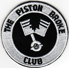 THE PISTON BROKE CLUB EMBROIDERED IRON ON PATCH british cycle cafe racer scooter