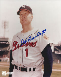 1957-BRAVES-Del-Crandall-signed-8x10-photo-AUTO-Autographed-Milwaukee