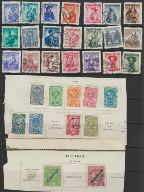 RH5 A SELECTION OF STAMPS FROM AUSTRIA FROM OLD COLLECTION.