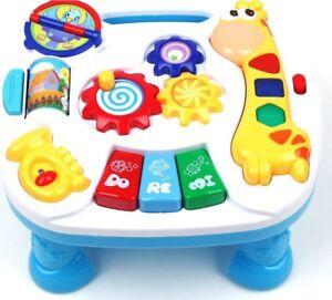 Lerntisch-Spieltisch-Spielzeug-Motorik-Musik-Activity-Center-zenter-Piano-Baby