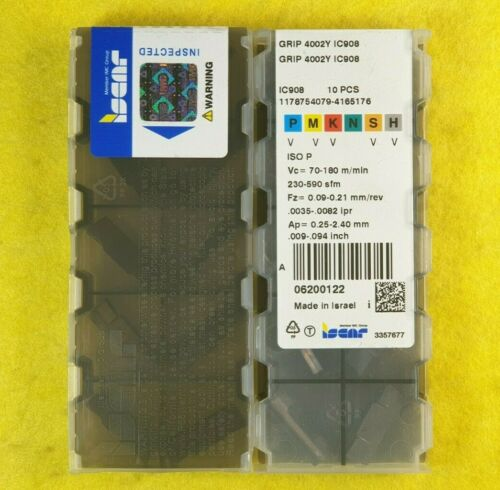 Iscar GRIP 4002Y IC908; 10 inserts//box