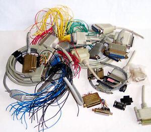 Pratique Various Plug Socket Connectors – Computer Based - Used – Useful - Notes/pics D