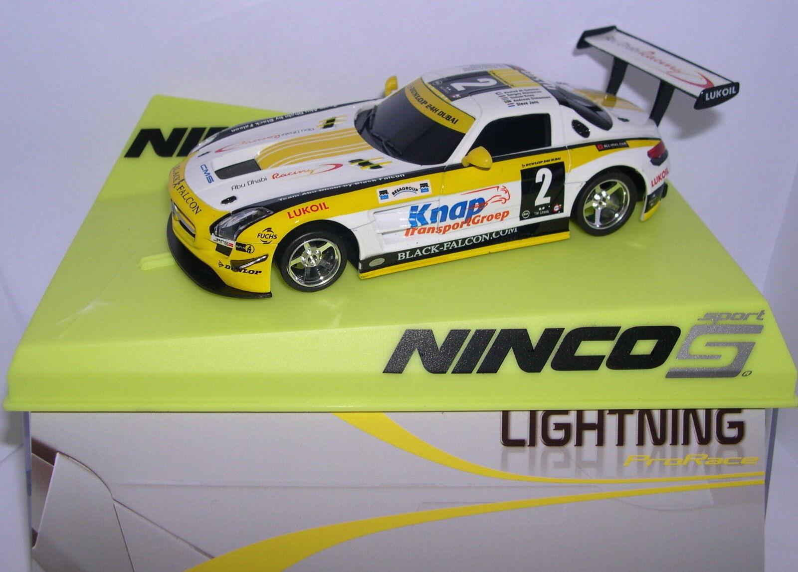 NINCO SLOT VOITURE MERCEDES SLS GT3 LIGHTNING  2 CORPS NINCO 1 KNAP MB