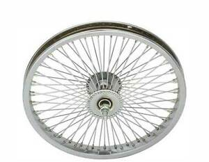 LOW-RIDER-LOWRIDER-BIKE-BICYCLE-16-034-72-Spoke-Front-Wheel-14G-Chrome