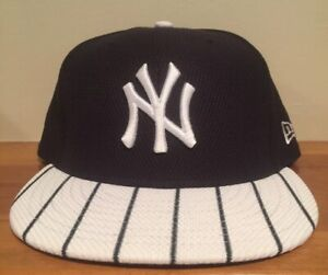 876b39b1 Details about NEW YORK YANKEES NEW ERA 59FIFTY DIAMOND PINSTRIPE FITTED HAT  CAP SIZE 7 5/8