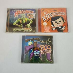 Halloween Scary Stories Fun and Games Fright Sound Effects Music CDs Lot Of 3