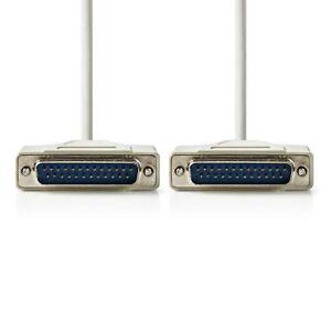 Simple Nedis Câble Rs232 D-sub 25-pin Mâle Vers D-sub 25-pin Mâle 2 M Ivoire Ccgp 52100iv20-afficher Le Titre D'origine