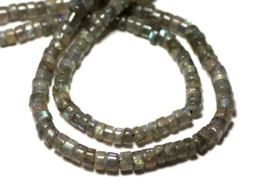 Fil 33cm 125pc env Labradorite Rondelles Heishi 4-5mm Perles de Pierre