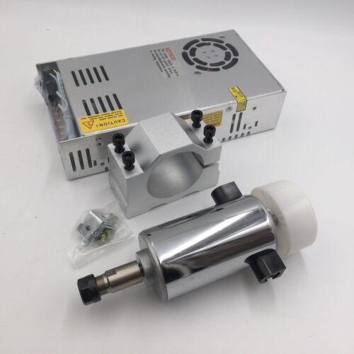 300W DC Spindle Motor ER11 0.4Nm DC12-48V+Power Supply+Mount Bracket CNC Kit