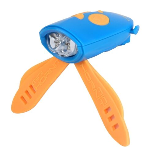 Bike Scooter Lights Sound Effects Blue Orange NEW! MINI HORNIT Bicycle Horn