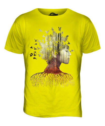 Double Exposure Model in Forest T-Shirt Homme Tee Top Cadeau photographie Photoshop