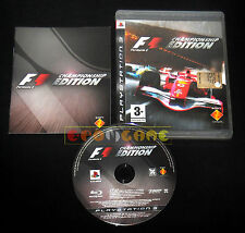 FORMULA ONE CHAMPIONSHIP EDITION Ps3 F1 1 Versione Italiana ••••• COMPLETO