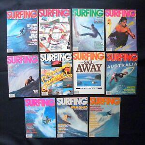 SURFING-MAGAZINE-1980-VOL-16-LOT-OF-11-ISSUES-SURFER-LONGBOARDING-HAWAII