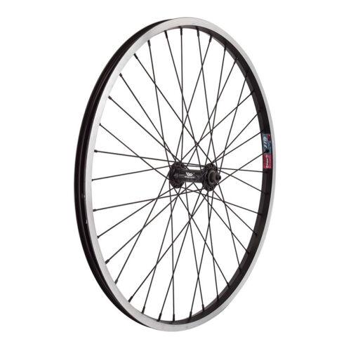 "Wheel Master 24/"" Alloy Mountain Whl Ft 24x1.5 507x19 Aly Bk 36 Aly Qr Bk 14g Bk"