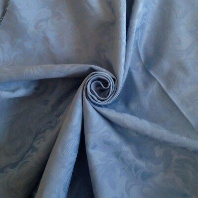 PM Navy Blue Prestigious Jacquard Brocade Upholstery Weight Fabric Italian Style