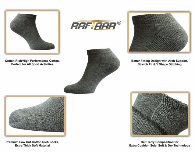top quality affordable price check out Raftaar® Sport Unisex Thick Premium Low Cut Ankle Running Trainer Socks