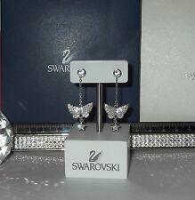 SWAROVSKI Crystal TINKERBELL WINGS & TENNIS STUD Earrings - Swan Hallmarked