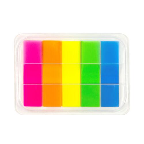 100 Haftmarker Haftstreifen Haftnotizen Haftnotizzettel 5 Farben schmal