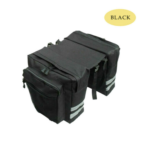 30L Double Panniers Bag Mountain Bike Bicycle Cycling Rear Seat Rack Pack/_r