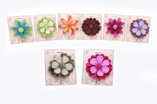 Various Colours//Designs Bags  Felt Womens Large Flower Brooch for Clothes