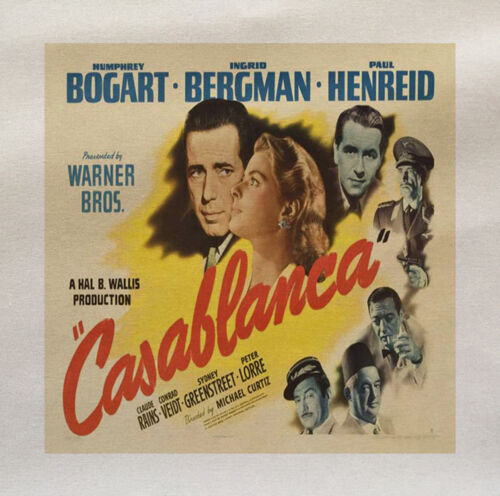 Casablanca Movie Printed Fabric Panel Make A Cushion Upholstery Craft
