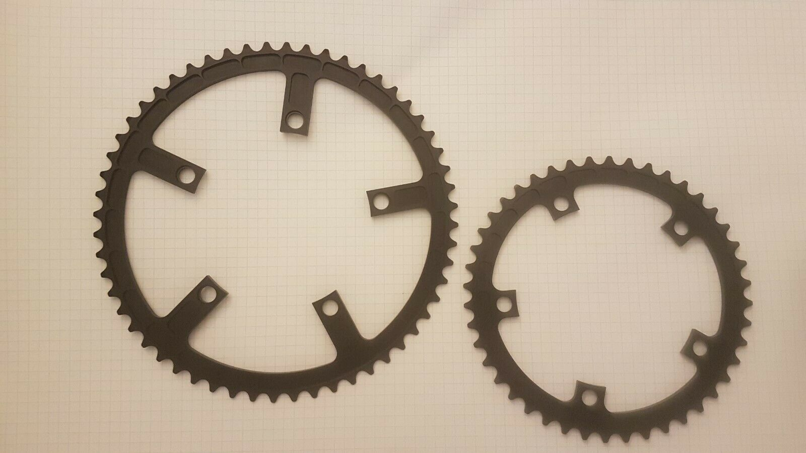 Magic motorcycle coda road chainrings 130bcd 56 44 NOS vintage