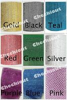 4.5 X 15ft Wedding Decoration Supplies Rhinestone Diamond Wraps Ribbon Mesh