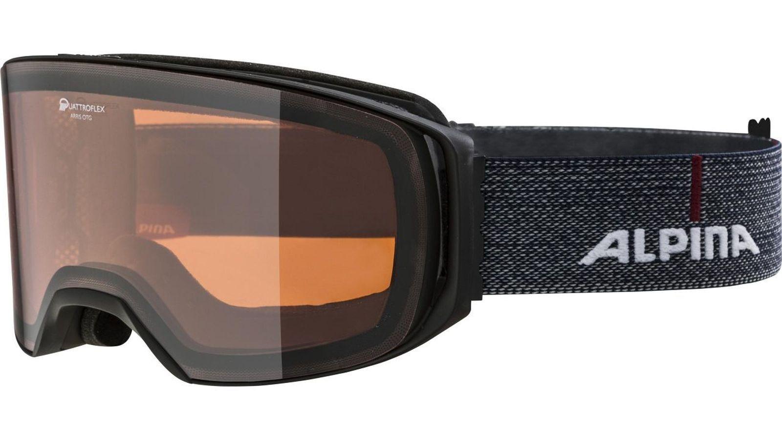 Alpina ARRIS QH Quattroflex Hicon S2 Skibrille für Brillenträger schwarz denim