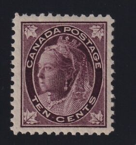 Canada-Sc-73-1897-10c-violet-brown-Maple-Leaf-Mint-VF-NH