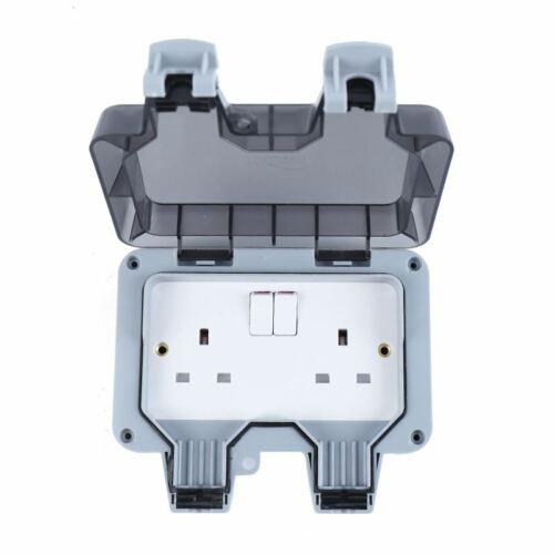 KATSU Weatherproof Outdoor Switched Socket Double Pole  IP66 13A