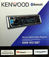 Kenwood Kmr-m315bt Single Din Marine Digital Media Car Stereo W/ Bluetooth
