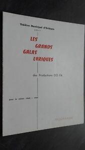 Programa Theatre Municipal Orleans Las Grandes Galas Letra 1964-65 Buen Estado