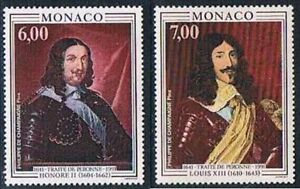 Monaco 1991 Yv N°1787 - 1788 Mnh** Treaty of Péronne - France - Monaco 1991 Yv N1787 - 1788 Mnh Treaty of Péronne - France