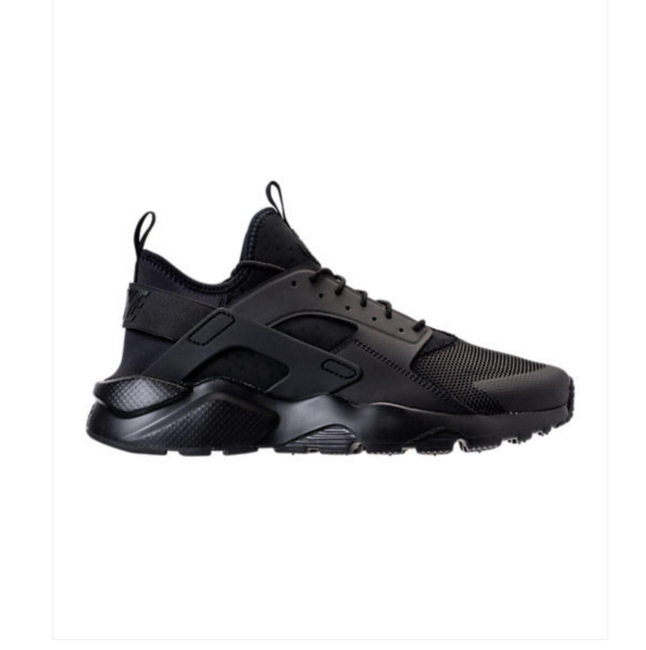NEW NIKE AIR HUARACHE RUN ULTRA Running Shoes Triple Black Blackout 819685-002 Comfortable and good-looking