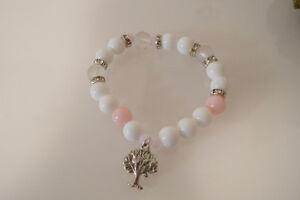 Damenarmband-Armband-Edelsteine-handgefertigt-Achat-amp-Jade