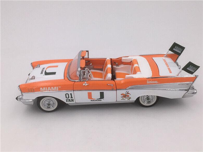 Danbury Comme neuf 1 24 Chevrolet Bel Air 1957 Miami Hurricanes U équipe voiture