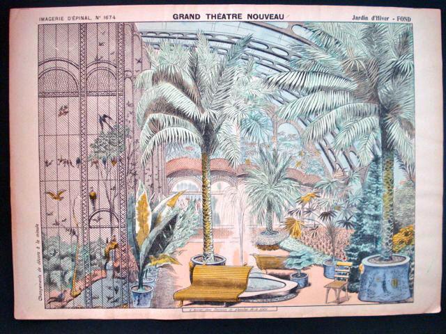 PELLERIN Imagerie d'epinal-grand Teatro Nouveau N ° 1674 jardín de invierno inv1782