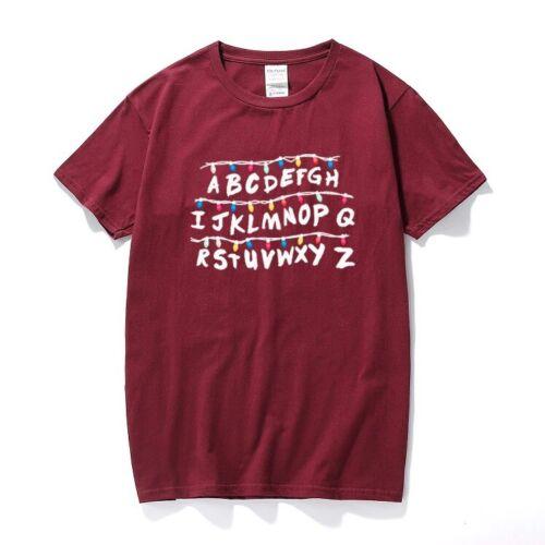 Stranger Things Alphabet T-Shirt Harajuku Vintage Unisex Baumwolle