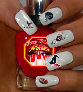 Image Is Loading Houston Texans Fans Nail Art Waterslide Decals