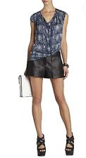 NWT BCBG MAXAZRIA  Top *Fashion ON-TREND* Reptile  Print   **SEXY DRAPE** M