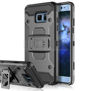 Robuste-Hybride-Antichoc-etui-Housse-etui-clip-ceinture-pour-Samsung-Galaxy-S7-EDGE