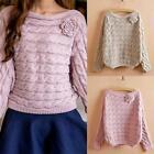 Women Long Sleeve Loose Sweater Knitted Cardigan Outwear Coat Casual Sweater Top