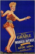 WABASH AVENUE Movie POSTER 27x40 Betty Grable Victor Mature Phil Harris Reginald