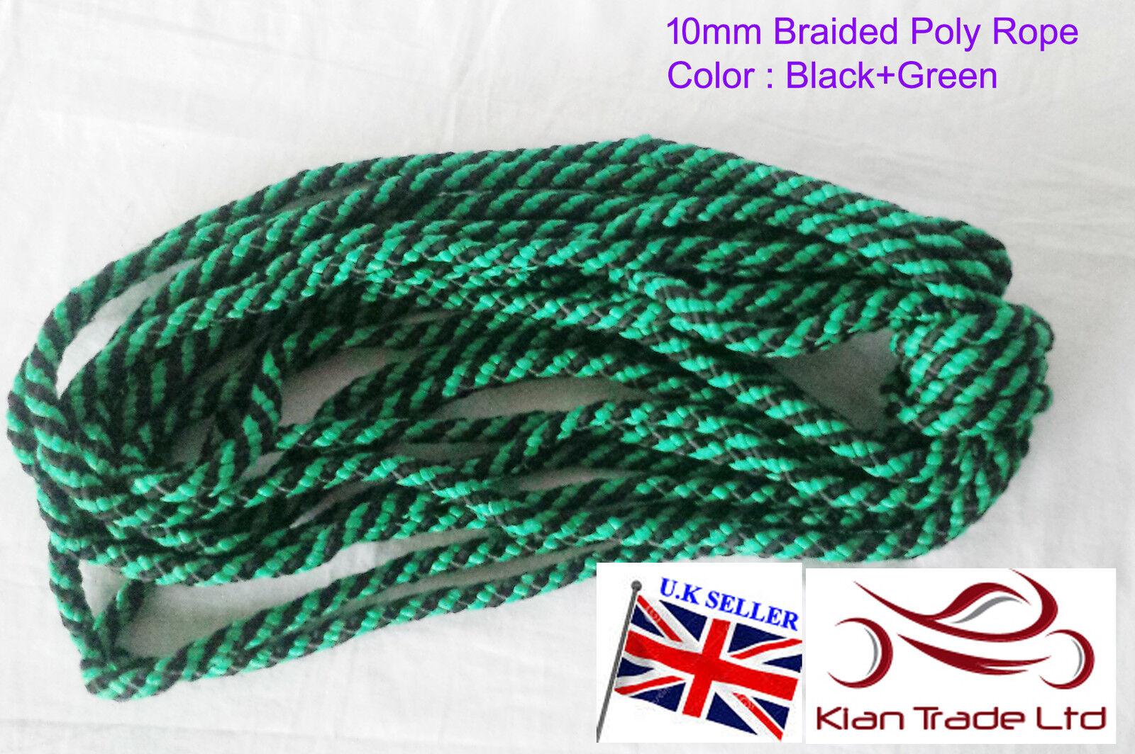 10mm schwarz grün Poly Seil Yacht Segel Segel Segel Camping Stiefel Aufstieg Marine Garten 6eff7e